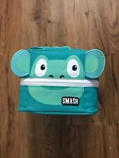 Smash Monster Green Monkey Insulated Lunch box Blue IQ Antimicrobial Lining NEW