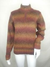 Exofficio womens sweater Large mohair blend 1/4 zip pull over turtle neck EUC