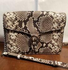 MICHAEL KORS Embossed Leather Crossbody Shoulder Bag Python