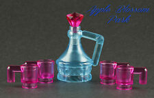 NEW Lego Minifig BLUE JUG & 4 PINK CUPS - Pirate Friends Food Wine Flask Bottle