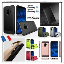 Etui Coque housse Antichocs Shockproof HYBRIDE Case Samsung Galaxy S9  S9 + plus