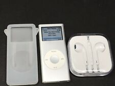 Apple iPod Nano 2GB Second 2nd Generation A1199 MA477LL Silver *Tested w/ Accs*