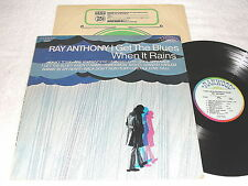 "Ray Anthony ""I Get The Blues When It Rains"" 1968 Jazz LP, VG+, Stereo, Ranwood"