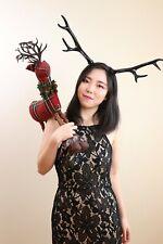 Antlers Reindeer Black Horn Demon Nymph Horn Headdress Christmas Wizard Costume