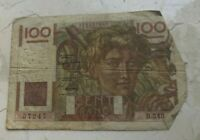1949 France 100 Francs - World Currency Bank Note