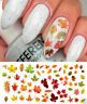 100 Fall Leaves Assortment Water Slide Nail Art Decals Autumn  Leaf  Nails uh