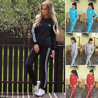 Damen Trainingsanzug Jogginganzug Sportanzug Anzug Tracksuit Pullover Tops Hosen