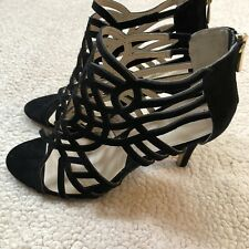 NEW ADRIENNE VITTADINI 9.5 Womens Avl-Anjolie-1 Platform Dress Sandal Black $149