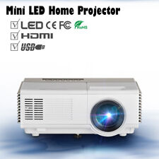 Mini Portable Projector LED 1080p HD Home Theater Movie TV Party HDMI USB VGA