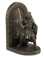 "7.75"" Medieval Armored Maltese Crusader Bookend Knight Statue Warrior Sculpture"