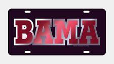 "UNIVERSITY OF ALABAMA Black ""BAMA"" Mirrored License Plate / Car Tag"