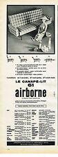 PUBLICITE ADVERTISING    1961  AIRBORNE   le canapé lit