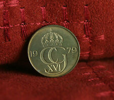 1979 Sweden 5 Ore World Coin KM849 Carl XVI Gustaf Crown Scandinavian