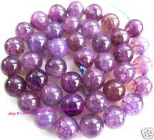 """Beautiful! Violet Crack Agate Round Beads 10mm15"""""""