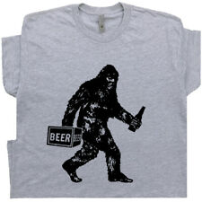 Funny Beer T Shirt Bigfoot Cool Sasquatch Men Women Vintage Alcohol Drinking