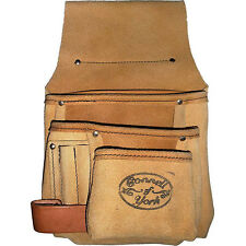 NEW CONNELL OF SHEFFIELD UK MADE - SEVEN POCKET SUEDE POUCH  - CNP7