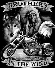 BROTHERS IN THE WIND indian wolf eagle TEE SHIRT SIZE XXL adult TJB16 tshirt NEW