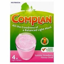 Complan Nutritious Vitamin Rich Drink Strawberry Flavour - 4 x 55 g Sachets