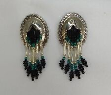 South Western Style Concho Beaded Earrings Post Style pierced ears