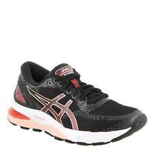 NIB - ASICS Women's 'GEL-NIMBUS 21' 1012A156-002 White/Pink RUNNING SHOES - 9.5