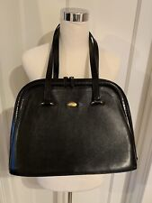 Vintage Bally Black Leather Shoulder Bag Made In Italy Zipper Closure Classic!