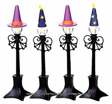 Lemax 94971 WITCH & WIZARD STREET LAMP Set of 2 Spooky Town Retired Accessory I