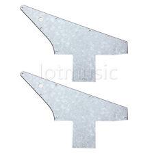 2pcs Guitar Pickguard for Explorer 76 Reissue Parts 3Ply White Pearl