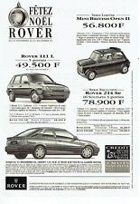 Publicité Advertising  078  1993   la Rover 111l Mini British Open II 114 LD