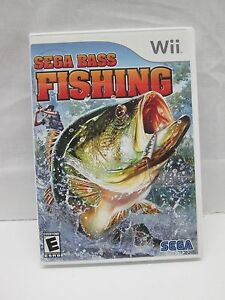 Sega Bass Fishing (Nintendo Wii, 2008) Complete & Tested