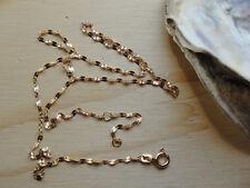 Goldkette Blättchen Gold kette 45cm / 1,8mm 333er Gold  8Karat Z 102 Neu