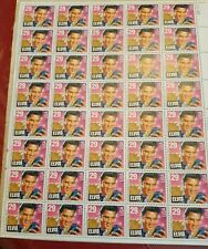 ELVIS PRESLEY SHEET OF FORTY  29 CENT STAMPS NEVER USED COLLECTORS