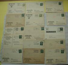 Firmenpostkarten Postkarten - DR,3.Reich 15 Stück,gelaufen,30er Jahre mit Marken