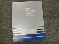 2004 Mitsubishi Montero Sport Eclipse Lancer Service Technical Bulletin Manual