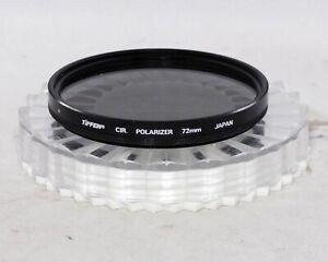 Tiffen 72mm 72 mm Circular Polarizer Filter Used 35mm SLR Film DSLR Digital