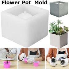 Cube Concrete Silicone Mold Planter Flower Pot Cement Vase Mould Craft Hand Make