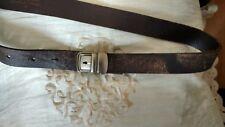 Ceinture CopCopine marron, cuir,  boucle très originale Taille 2 . Neuve