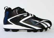 Reebok NFL Play Dry Black & White Football Cleats Mens 14  NEW