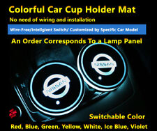 2pcs Colorful LED Coaster Atmosphere Car Part Light Bulbs For Nissan Neon Lights