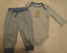 Gymboree Brand New Baby 6-12 Month Striped Pant Long Sleeve Lion Bodysuit Outfit