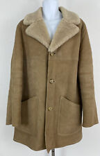 New listing Morlands Of England Men's Vintage Tan Lambskin Suede Shearling Coat Sz L