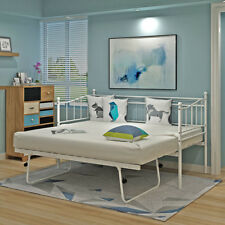 Metal Bed Frame Day Bed  Sofabed with Trundle Single Double Sofa Guest Bed