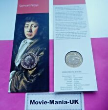 2019 UK £2 Coin To mark the 350th anniversary of Samuel Pepys'last diary entry,