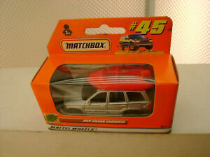 2000 MATCHBOX SUPERFAST #45 JEEP GRAND CHEROKEE WITH RAFT ON ROOF NEW IN BOX