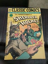 Classic Comics #33 The Adventures Of Sherlock Holmes