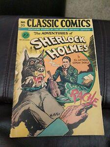 Classic Comics #33 The Adventures Of Sherlock Holmes