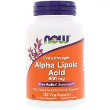 Ahora los alimentos el ácido alfa lipoico - 120 - 600mg Cápsulas Vegetarianas-Alta potencia antioxidante