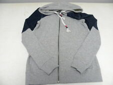 Roxy Woman Small Hoodie Sweater Jacket Jeans  Gray Front Zip