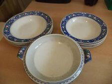 OLD ANTIQUE BRISTOL POTTERY POUNTNEY CRANLEIGH DINNER SET tureen & 9 bowls 2 siz