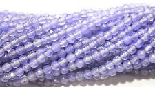 "Genuine 4mm Faceted Smooth Lavender Jade Round Gemstone Loose Beads 15""AAA"