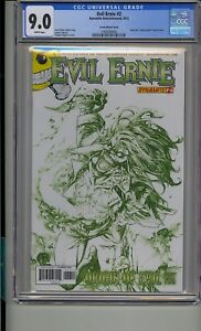 EVIL ERNIE #2 CGC 9.0 HIGH END CHAOTIC GREEN SKETCH COVER RARE ONLY 10 MADE